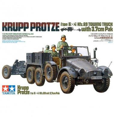 Грузовик Krupp Protze с 37 мм пушкой 1:35
