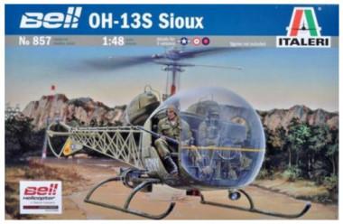 сборная модель Вертолет BELL OH-13S SIOUX 1:48