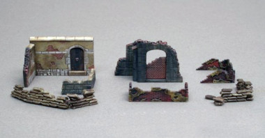 аксессуары руины здания (1:72)