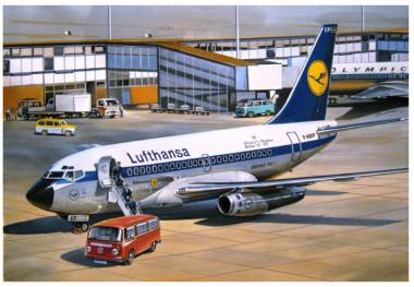 Сборная модель Авиалайнер Б-731 Lufthansa