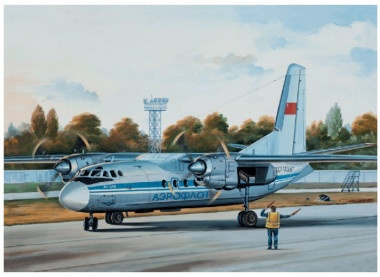 Сборная модель Ан-24Б Аэрофлот/LOT