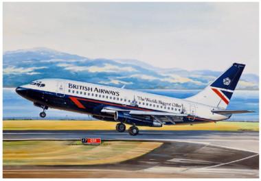 Авиалайнер Б-732 British Airways