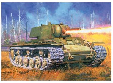 Сборная модель танк КВ-8 1942 г.