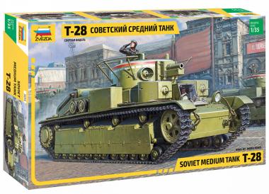 Сборная модель советский средний танк Т-28