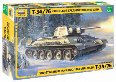 сборная модель танк Т-34/76 обр.1943г. УЗТМ 3689