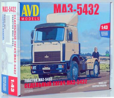 1171AVD сборная модель седельный тягач МАЗ-5432 (1:43)