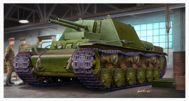 сборная модель САУ КВ-7 (Объект 227) 1:35