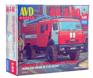 пожарная автоцистерна АЦ-3-40 (43502) 1:43