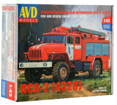 Автомобиль пожарно-спасательный ПСА-2 (4320)  1:43