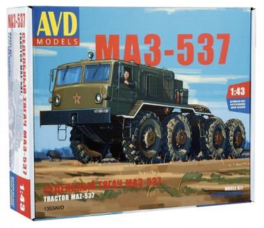 Сборная модель седельный тягач МАЗ-537 1:43
