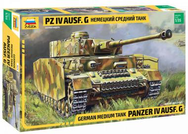 Сборная модель немецкий танк T-IV G 3674 zvezda