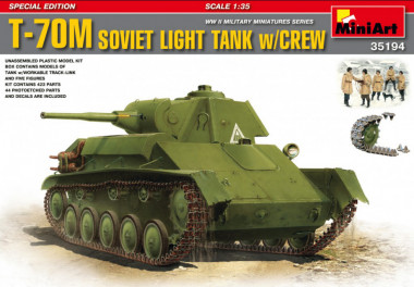 35194 Танк T-70M SOVIET LIGHT TANK w/CREW SPECIAL EDITION 1:35