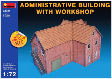 Miniart ADMINISTRATIVE BUILDING WITH WORKSHOP 1:72