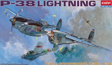 Сборная модель 12282 самолет P-38E/J/L (1:48)