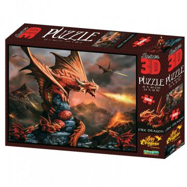 Пазл Super 3D Огненный дракон 10090