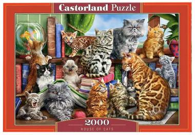 Castorland. Пазл 2000 C-200726 Дом кошек