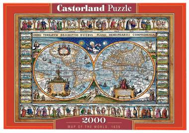 пазл Карта мира 1639 год 200733