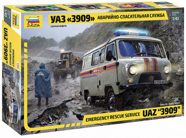 УАЗ 3909 Аварийно-спасательная служба 1:48