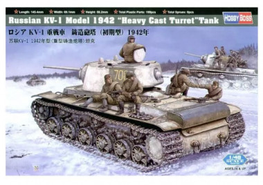 сборная модель Танк Russian KV-1 Model 1942 Heavy Cast Turret 1:48