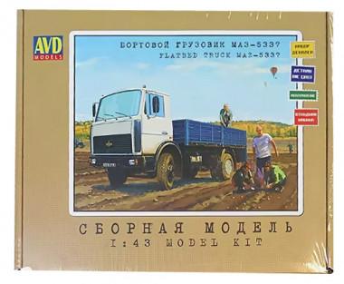 1175KIT Игрушка автомобиль бортовой грузовик МАЗ-5337