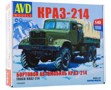 1343 Игрушка автомобиль бортовой КРАЗ-214 (1:43)