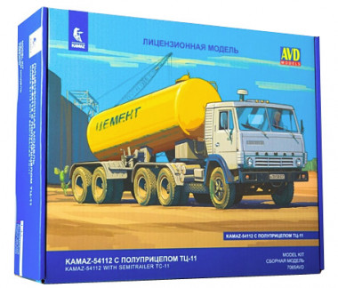 КАМАЗ-54112 с полуприцепом ТЦ-11 1:43 арт.7065