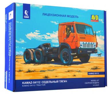 Сборная модель КАМАЗ-54112 седельный тягач 1412AVD