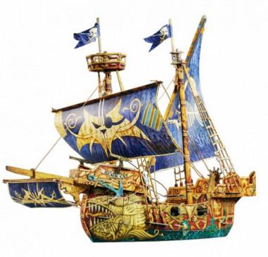 Сборная модель Пиратский корабль умная бумага