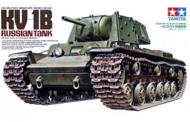 Сборная модель танк КВ-1Б, 1940г, с 1 фигур.