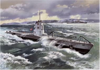 Сборная модель Германская подводная лодка U-Boat Type II В 1:144