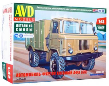 Сборная модель Автомобиль-фургон хлебный АФХ (66)