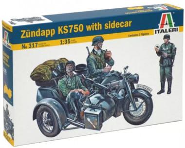 Мотоцикл Цундапп KS750 1:35