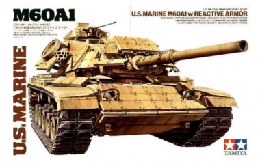 Американский танк М60А1 w/REACTIVE ARMOR и 2 фигуры 1:35