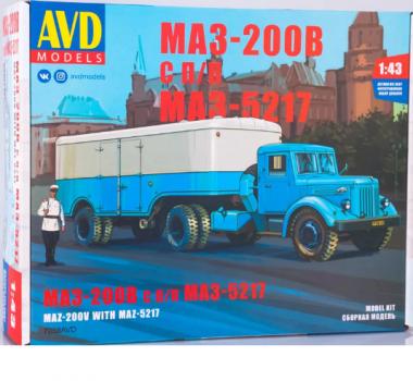 МАЗ-200В с п/п МАЗ-5217 1:43