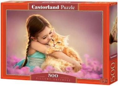 Пазл «Девочка с рыжим котом» 500 элементов