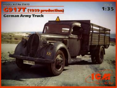 G917T (производства 1939), немецкий грузовой автомобиль 1:35