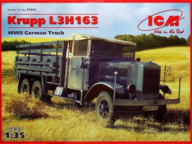 Krupp LH163, немецкий грузовой автомобиль, 2МВ 1:35