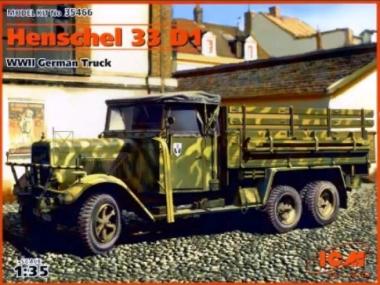 Hs 33 D1, немецкий грузовой автомобиль, 2МВ 1:35