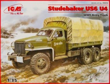 Грузовик Studebaker US6 U4 с тентом, лебедкой 1:35