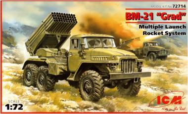 Ракетная система залпового огня БМ-21 «ГРАД» 1:72