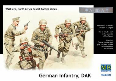 """Фигуры """"Немецкая Пехота, ДАК, в Северной Африке пустыни сражения серии, Комплект N 3"""" 1:35"""