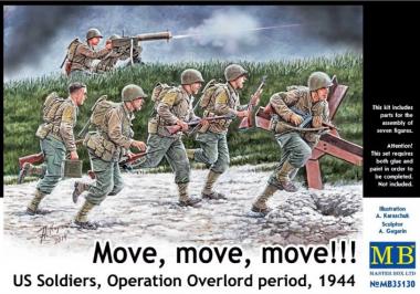 "Фигуры ""Вперед, вперед, вперед!!! ""Американские солдаты, операция Оверлорд, 1944"" 1:35"