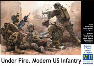 """Фигуры """"Под огнем. Современная американская пехота в бою"""" 1:35"""