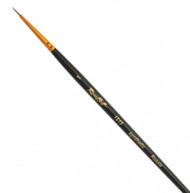 Кисть, синтетика круглая под колонок черная № 1, короткая ручка