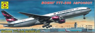Боинг 777-200 Аэрофлот 1:300