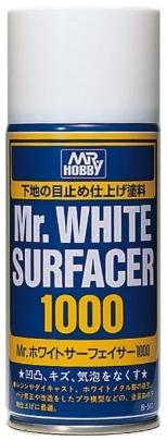 B-511 белая грунтовка в баллоне MR.HOBBY Mr.WHITE SURFACER 1000 170 мл