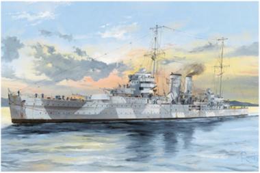 сборная модель Корабль HMS York 1:350