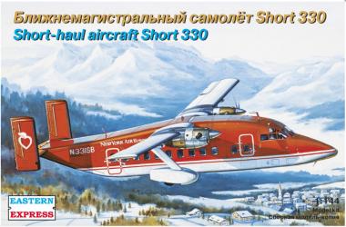 Сборная модель Пассажирский самолет Short 330 NewYork 1:144