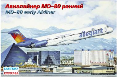 Сборная модель Авиалайнер MD-80 ранний Allegiant 1:144