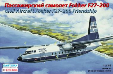 Сборная модель самолет Fokker F-27-200 BMA / Eagle 1:144